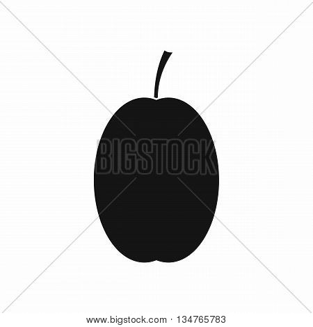 Plum icon in simple style isolated on white background