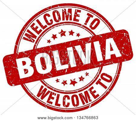 welcome to Bolivia stamp. welcome to Bolivia.