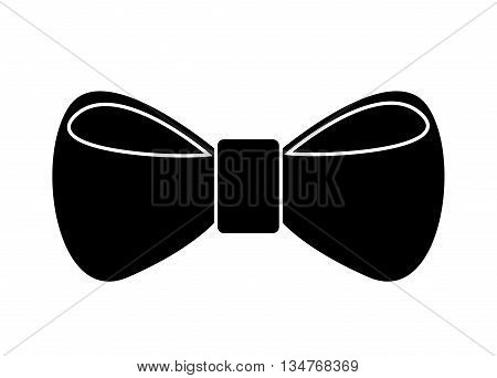 elegant bowtie hipster style  isolated icon design, vector illustration  graphic