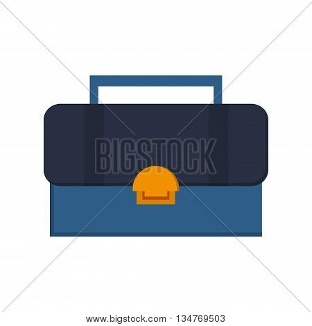 toolbox with handle in blue and yellow isolated over white