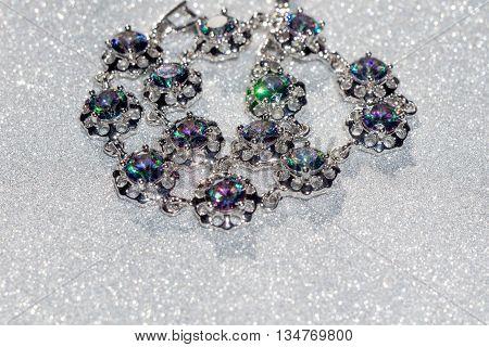 Bracelet With Mystic Topaz