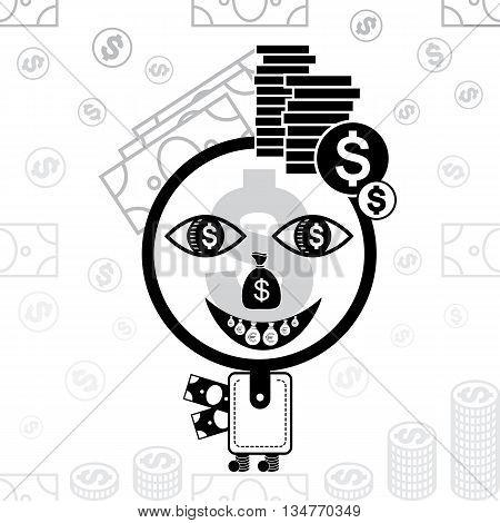 Money Man  Stylized Icon.