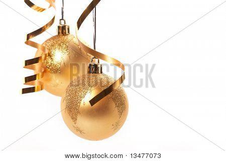 Bolas de Navidad oro