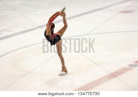 Orenburg, Russia - 26.03.2016: Competitions Girls Figure Skater