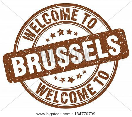 welcome to Brussels stamp. welcome to Brussels.