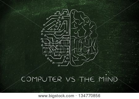 Artificial Circuits And Human Brain, Computer Vs The Mind
