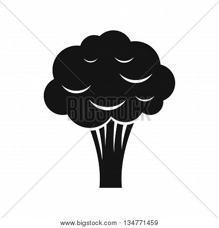 Broccoli icon in simple style isolated on white background