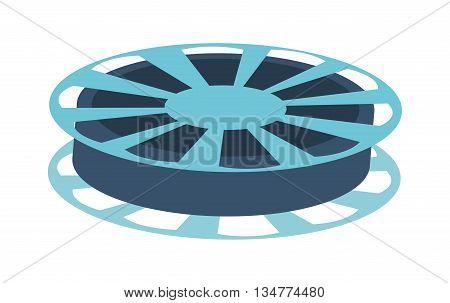 fblue ilm reel vector illustration isolated over white