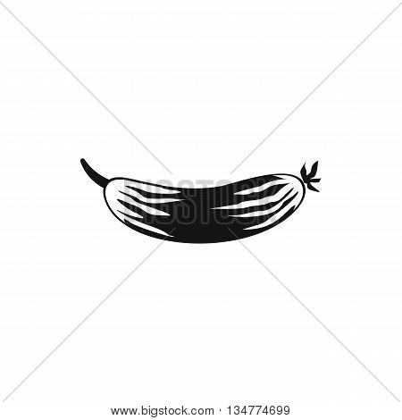 Fresh cucumber icon in simple style isolated on white background