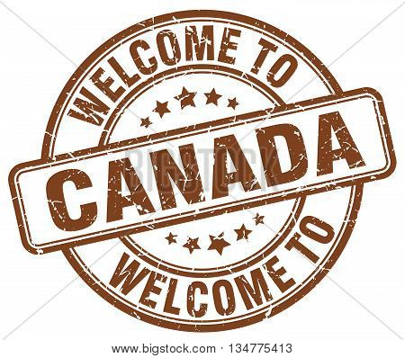 welcome to Canada stamp. welcome to Canada.