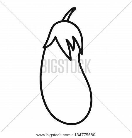 Eggplant icon in outline style isolated on white background