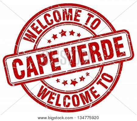 welcome to Cape Verde stamp. welcome to Cape Verde.