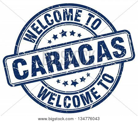 welcome to Caracas stamp. welcome to Caracas. vector