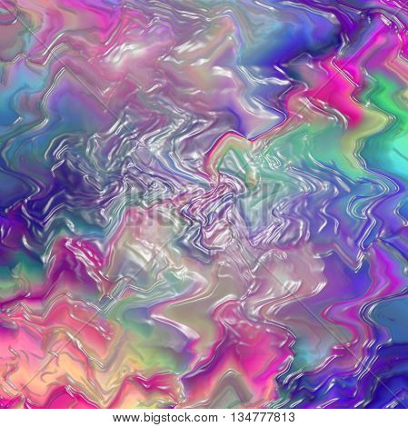 Abstract coloring background of the sunrise gradient with visual wave and plastic wrap effects