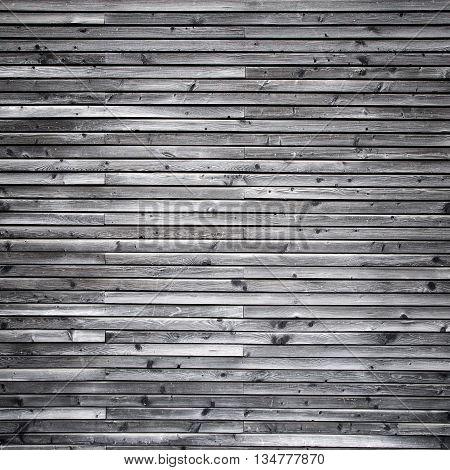 Gray wood wall - wooden panels arranged horizontally
