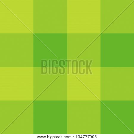 Seamless gingham pattern background - light green