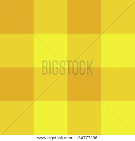 Seamless gingham pattern background - yellow and orange