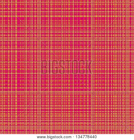 Seamless gingham pattern background - orange and red