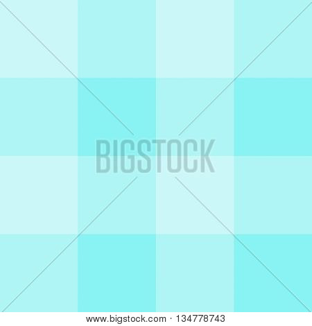 Seamless gingham pattern background - light teal