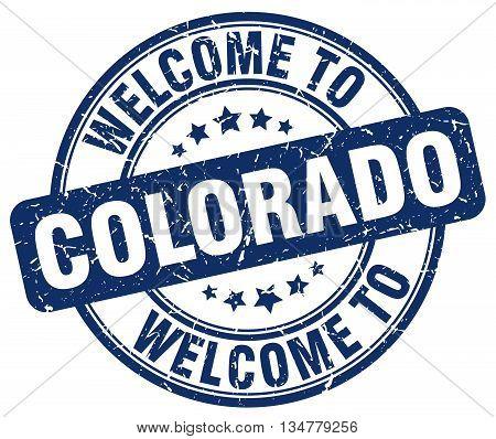 welcome to Colorado stamp. welcome to Colorado.