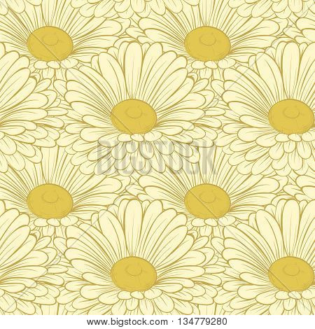 Beautiful seamless background with flowers. Hand-drawn contour lines and strokes.. Hand-drawn contour lines and strokes. Perfect for background greeting cards