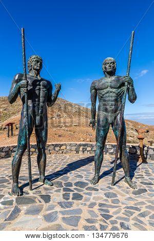 Morro Velosa Statues - Betancuria Fuerteventura Canary Islands Spain