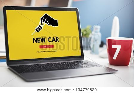 Car Rental Used Car Transportation Vehicle Concept