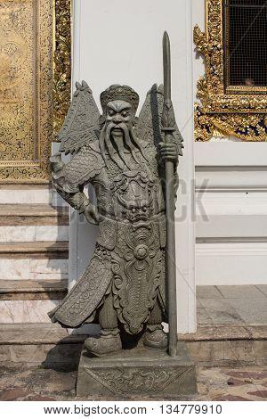 Chinese Guardian Figure , Wat Pho Temple, Bangkok