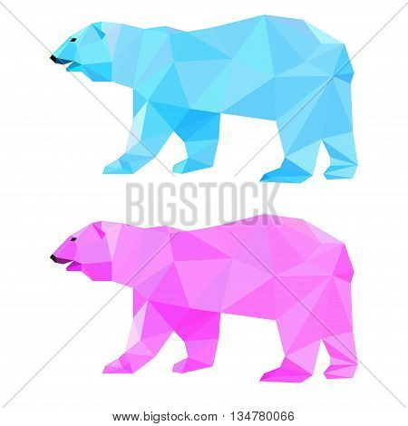 Abstract Polygonal Bear Set.