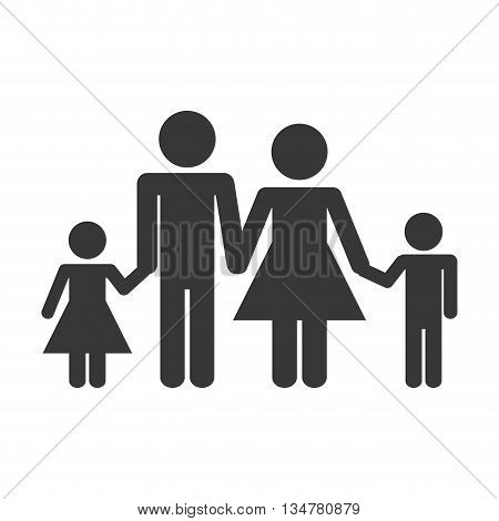 Pictogram of Family design about couple and kids illustration, flat and isolted design