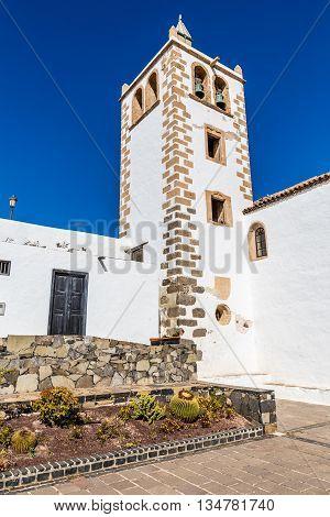 Tower Of Iglesia Catedral de Santa Maria de Betancuria - Betancuria Fuerteventura Canary Islands Spain