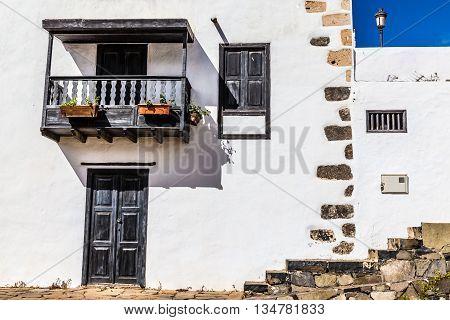 Detail Of Traditional Spanish House - Betancuria Fuerteventura Canary Islands Spain