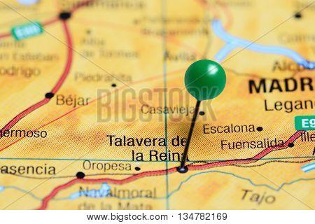 Talavera de la Reina pinned on a map of Spain