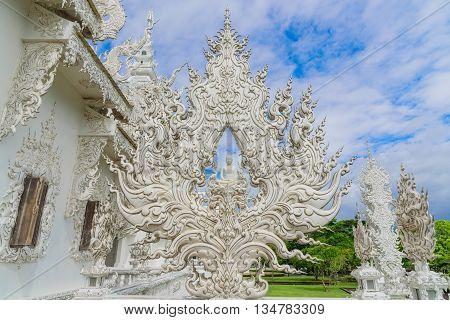 Wat Rong Khun - The White temple Chiang Rai, Thailand.