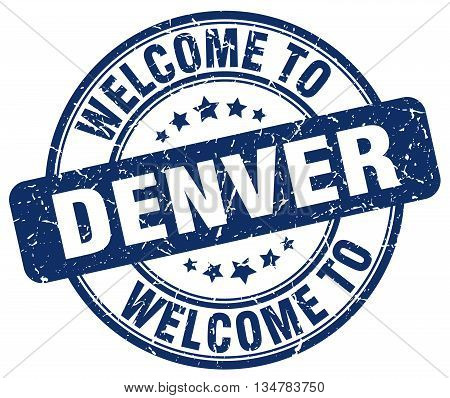 welcome to Denver stamp. welcome to Denver.