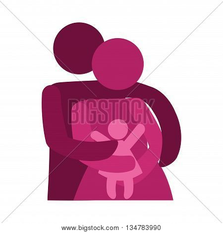 Pictogram of Family design about couple and baby  illustration, flat and isolted design
