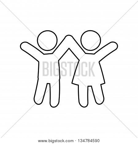 Pictogram of Family design about kids  illustration, flat and isolted design