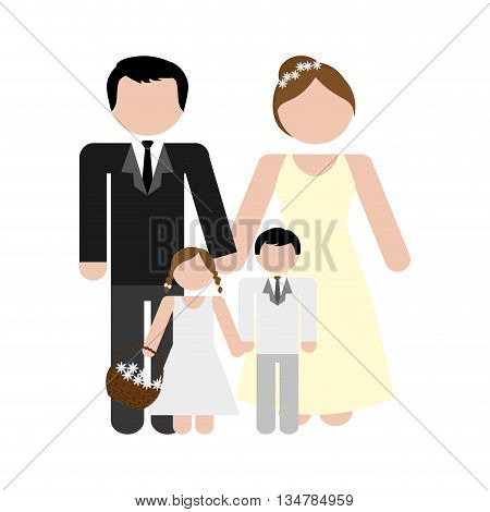 Avatar of Family design about couple and kids  illustration, flat and isolted design