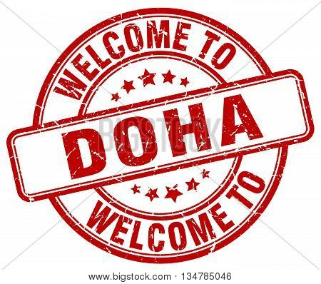 welcome to Doha stamp. welcome to Doha.