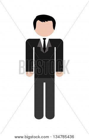 Avatar of man design with suit illustration, flat and isolted design