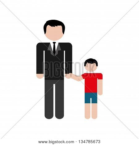 Avatar of Family design about father and son illustration, flat and isolted design
