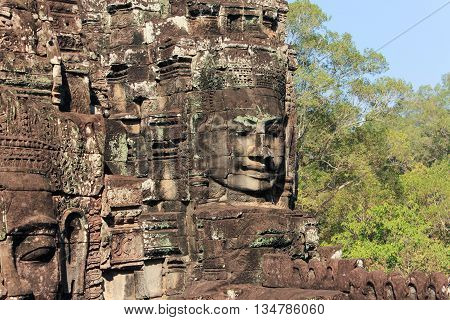Temples Of Angkor - Faces Of Bayon Temple
