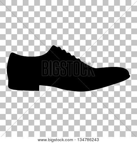 Men Shoes sign. Flat style black icon on transparent background.
