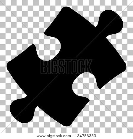 Puzzle piece sign. Flat style black icon on transparent background.