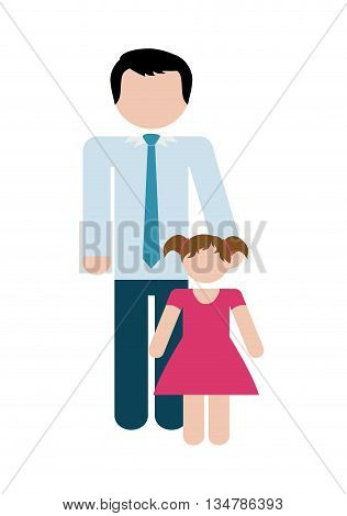 Avatar of Family design about father and daughter illustration, flat and isolted design