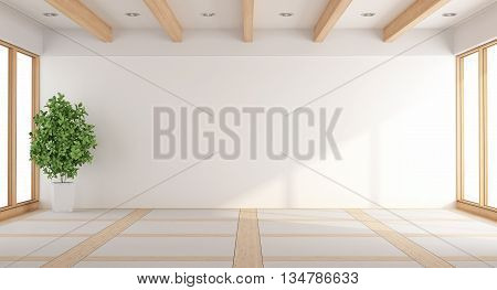Empty White Living Room
