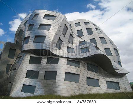 The Melting Building Facade Of The Lou Ruvo Center For Brain Health