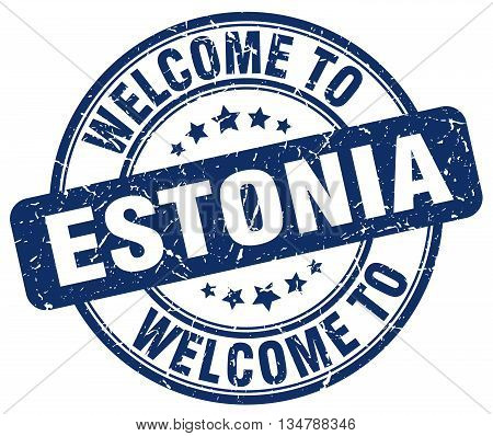 welcome to Estonia stamp. welcome to Estonia.