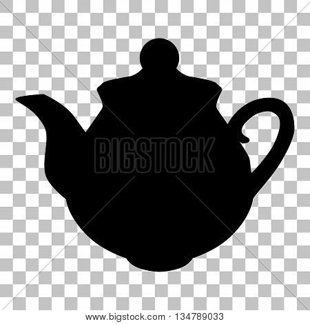 Tea maker sign. Flat style black icon on transparent background.