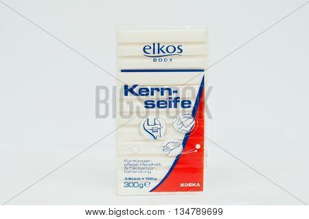 Berezovitsa, Ukraine - Circa June, 2016: Starch Soap Kern Seife